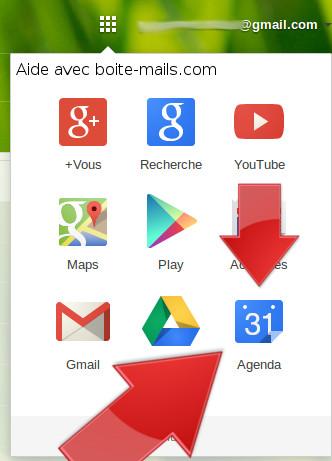 Agenda sur Gmail