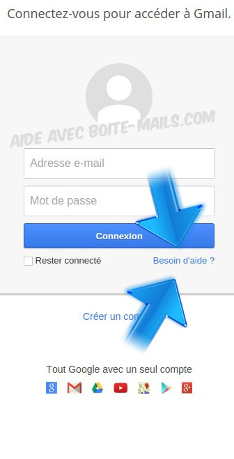 besoin aide gmail