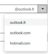 Choix pour votre adresse e-mail
