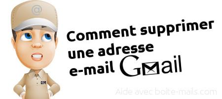 supprimer adresse gmail