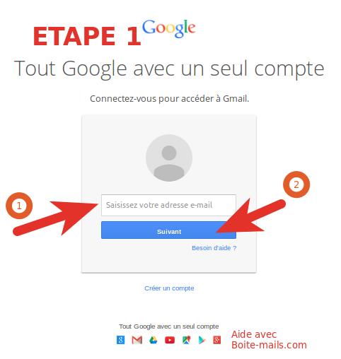 Ouvrir mon compte Gmail (ouverture de session)