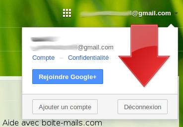 Déconnexion de gmail