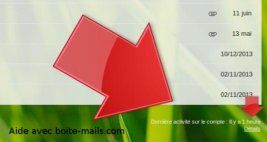 Détails sur gmail