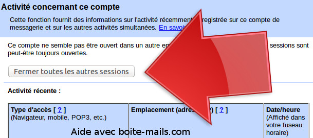 Fermer session gmail