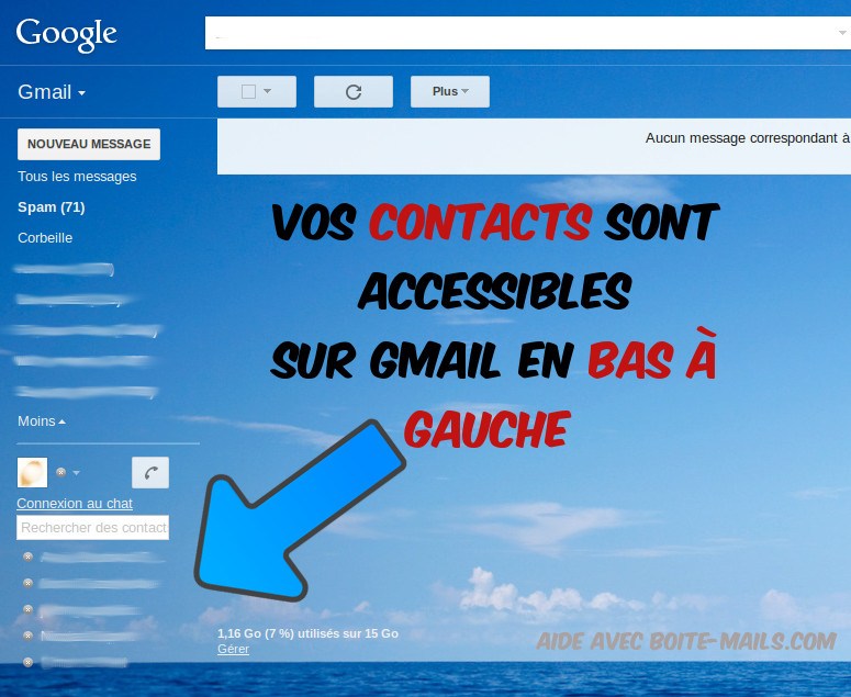 Contacts sur Gmail