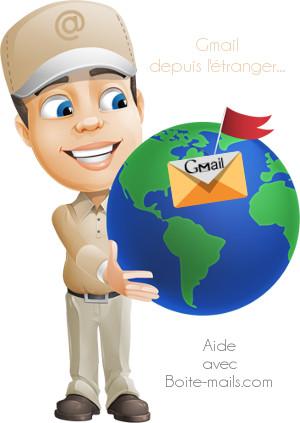Gmail à l'étranger