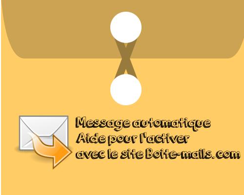 message automatique