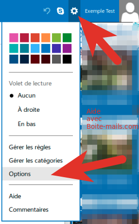 Options hotmail