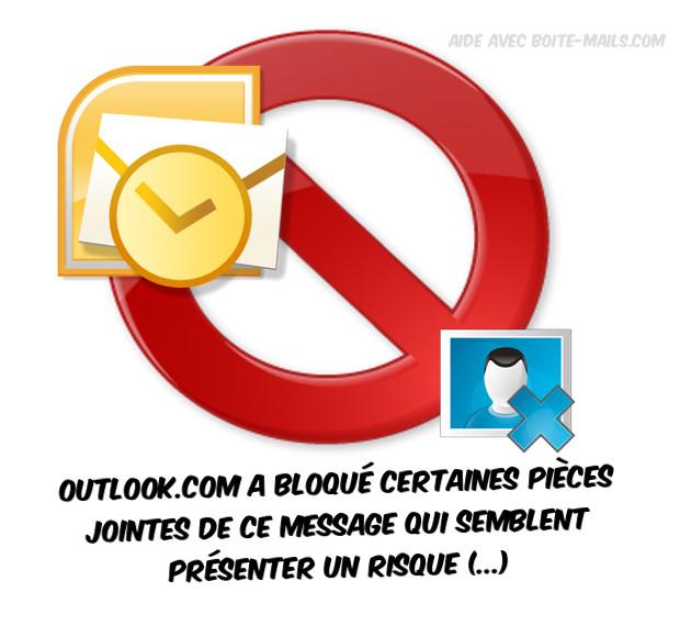 outlook.com a bloqué certaines pièces jointes