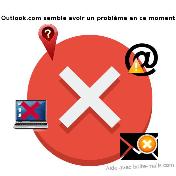 Outlook.com semble avoir un problème en ce moment