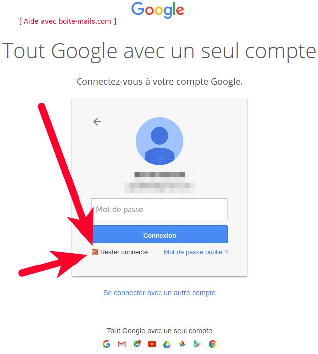 rester connecter à gmail