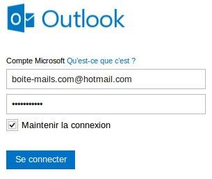 Se connecter à Outlook