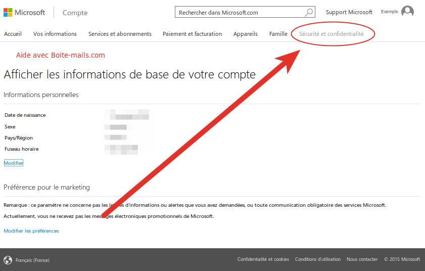 Sécurité sur Hotmail