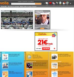 page d'accueil voila.fr