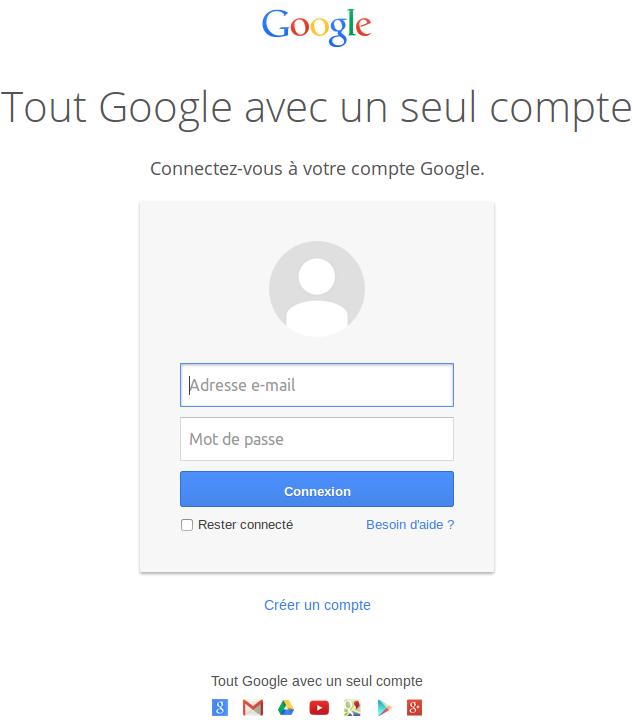 Connectez-vous à google