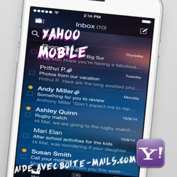 Yahoo sur mobile